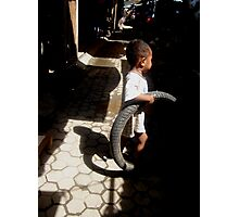 Boy and tire by Carlito da Costa Photographic Print