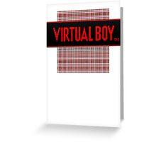 Virtual Boy Old School Greeting Card