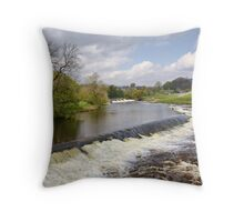 The Weirs at Linton Throw Pillow
