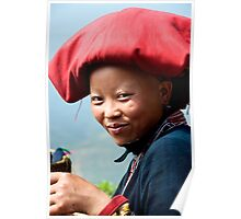Red Zao Woman Poster