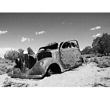 Perfect Sweet Sixteen Car (black & white) Photographic Print