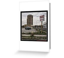 Detroit City, downtown Greeting Card