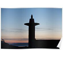 Bangor Lighthouse at Dusk Poster
