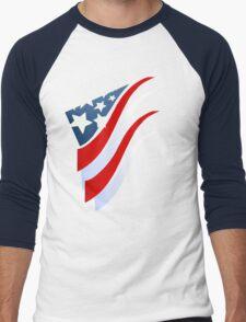 Stripes N Stars Men's Baseball ¾ T-Shirt