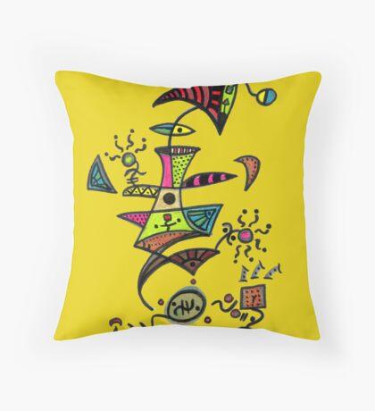 ET Loves Music Throw Pillow
