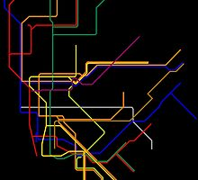 NYC Subway Lines by byebyesally