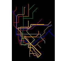 NYC Subway Lines Photographic Print