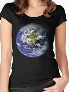 EARTH - USA/CANADA/CENTRAL AMERICA WESTERN HEMISPHERE Women's Fitted Scoop T-Shirt