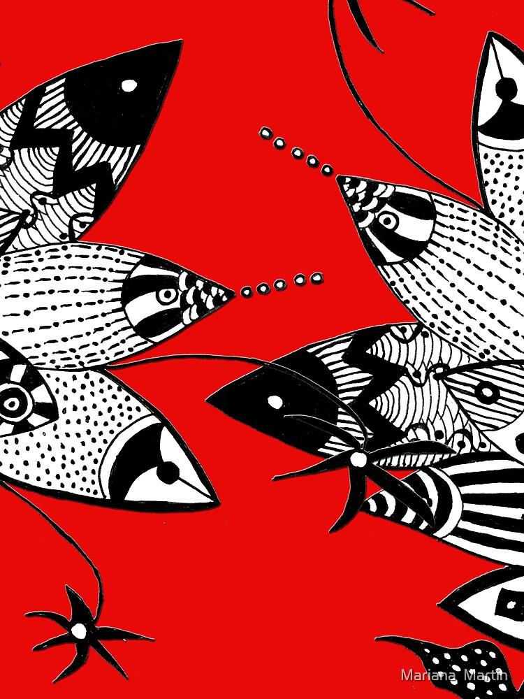 Fish Figfhting by Mariana M Martin