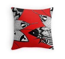 Fish Figfhting Throw Pillow