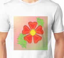Red flora Unisex T-Shirt