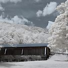 Covered Bridge in Infrared by VLFatum