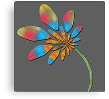 Multi colored flora Canvas Print