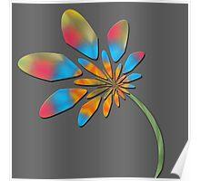 Multi colored flora Poster