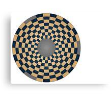 Revised circular board Canvas Print