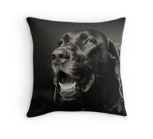 "German Shorthair Pointer ""SHADOW"" Throw Pillow"