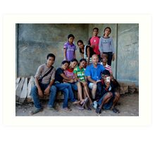 Centro Juventude photography group by Afreo Sanches Art Print