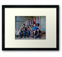 Centro Juventude photography group by Afreo Sanches Framed Print
