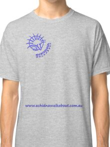 Echidna Walkabout logo blue horizontal text Classic T-Shirt