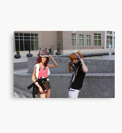 Little Cosplayers Canvas Print