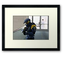 Halo Cosplay Close-up Framed Print