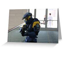 Halo Cosplay Close-up Greeting Card