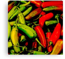 Red-Hot Green-Hot Canvas Print