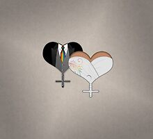 Lesbian Dress and Tux Hearts Tie by LiveLoudGraphic