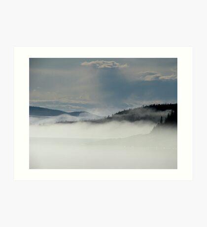 Fog Over Hawkins Island - Marathon Ontario Art Print