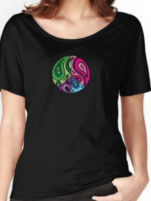 Paisley Peace Black Women's Relaxed Fit T-Shirt