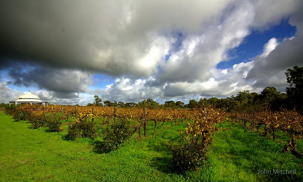 Storm clouds over Middlebrook Winery by John Mitchell