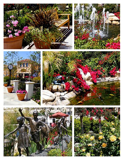 Plaza Garden Collage by Marie Sharp