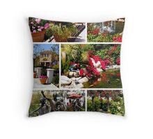 Plaza Garden Collage Throw Pillow