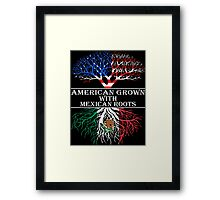 American Grown With Mexican Roots Framed Print