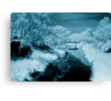 blue day.... bridge over the river styx Canvas Print