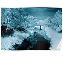 blue day.... bridge over the river styx Poster
