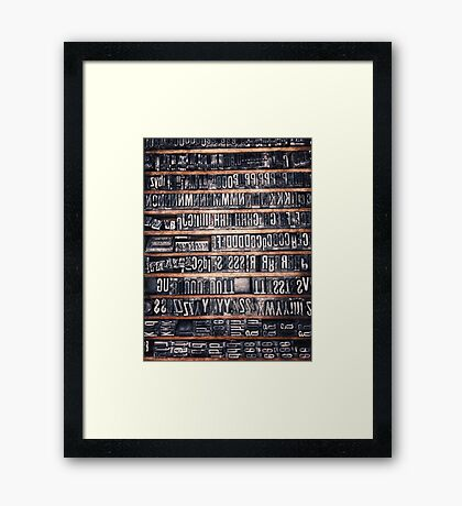 Type Case Framed Print