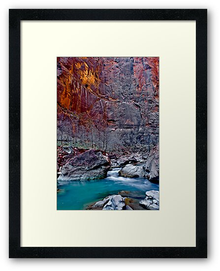 Zions Icy Virgin River by photosbyflood