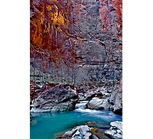 Zions Icy Virgin River Photographic Print