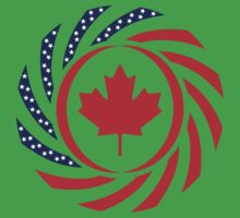 Canadian American Multinational Patriot Flag Series 1.0 Kids Clothes