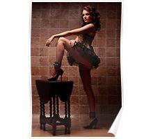 Elle Tyler Corset & Cuffs Poster
