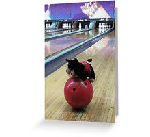 RnR Bowling w Zac ... having a go Greeting Card