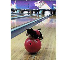 RnR Bowling w Zac ... having a go Photographic Print