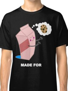 Couple cute milk and cookies Funny Geek Nerd Classic T-Shirt
