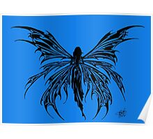 Tribal Fairy Blue Poster