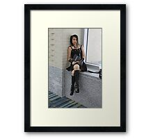 Misa:  Don't Anger the Keeper of the notebook. Framed Print