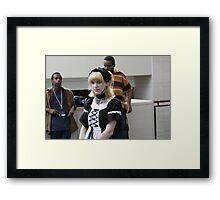 Goth Maid Framed Print