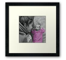 MOM ..I THINK I REMEMBER THAT SONG...LISTEN I'LL SING IT FOR U.. Framed Print