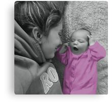 MOM ..I THINK I REMEMBER THAT SONG...LISTEN I'LL SING IT FOR U.. Canvas Print