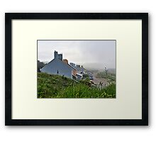 Heavy Fog Rolls in - Alderney Framed Print